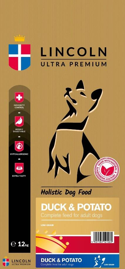 22e70e996ab93 Karma dla psa Lincoln Adult Duck & Potato kaczka z ziemniakami 3kg ...