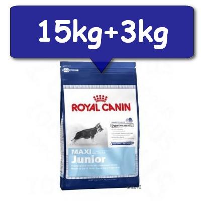 karma sucha dla psa royal canin maxi junior 15kg 3kg gratis sklep zoologiczny online e. Black Bedroom Furniture Sets. Home Design Ideas