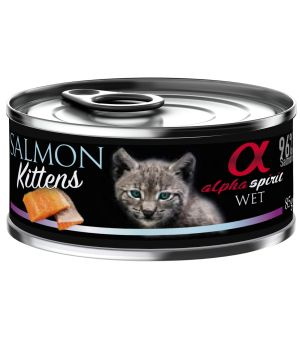 Alpha Spirit - łosoś dla kociąt SALMON FOR KITTEN - 85g