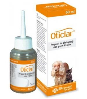 Biowet Oticlar do uszu d/psa i kota 50ml