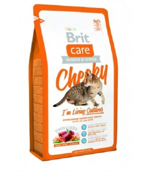 Karma sucha dla kota BRIT CARE Cat Cheeky I\'m Living Outdoor 7kg