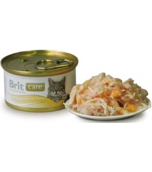 Karma mokra dla kota BRIT Care Cat Chicken Breast + Cheese / Pierś z kurczaka z Serem 80g