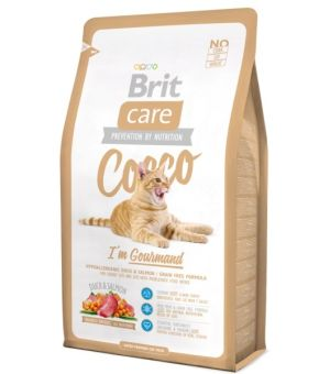 Karma sucha dla kota BRIT CARE Cat Cocco I\'m Gourmand 400g