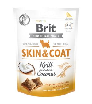 BRIT CARE FUNCTIONAL SNACK - SKIN & COAT KRILL - przysmak dla psa 150g