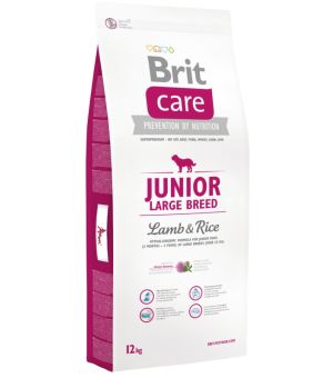 Karma sucha dla psa Brit Care Junior Large Breed  Lamb & Rice 12kg  - taniej!