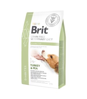 Brit Veterinary Diet Diabetes Turkey & Pea sucha karma dla psa - 2kg