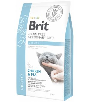 Brit Veterinary Diet Obesity Chicken&Pea sucha karma dla kota - 2kg