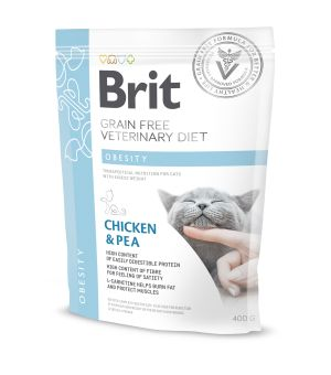 Brit Veterinary Diet Obesity Chicken&Pea sucha karma dla kota - 400g