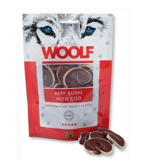 Brit Woolf Beef Sushi With Cod 100g