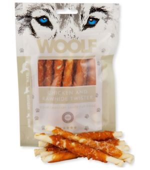 Brit Woolf Chicken Rawhide Twister 100g