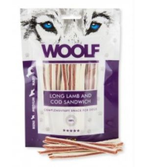 Brit Woolf Long Lamb/Cod Sandwich 100g