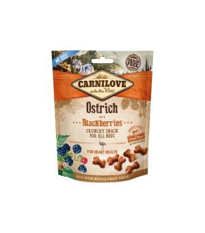 Carnilove Dog Snack Crunchy Ostrich & Blackberries 200g