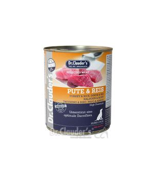 Dr.Clauder\'s Selected Meat PUTE & REIS 800g - INDYK & RYŻ