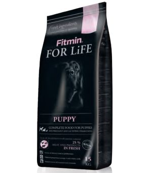 FITMIN Karma Dog For Life Puppy 15kg  - 5% rabat w koszyku