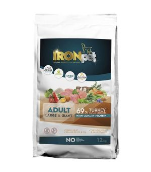 IRONpet TURKEY Large & Giant Adult Indyk 12kg + Naturel Crispy GRATIS