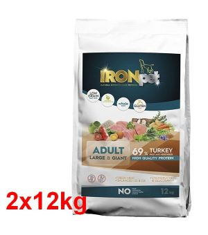 IRONpet TURKEY Large & Giant Adult Indyk 12kg x2 - taniej