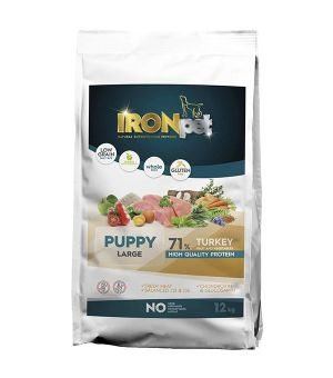 IRONpet TURKEY Puppy Large Indyk 12kg