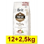Karma sucha dla psa Brit FRESH Turkey Pea Light  Adult 12kg+2,5kg GRATIS