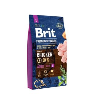 Karma sucha dla psa Brit Premium By Nature Small Adult S 3kg