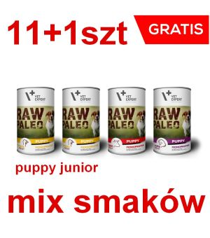 RAW PALEO Puppy Dog 400g Mix smaków 11+1 GRATIS
