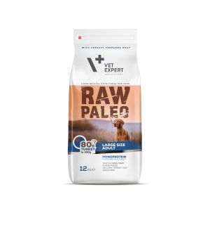 VetExpert RAW PALEO Adult Large - indyk 12kg